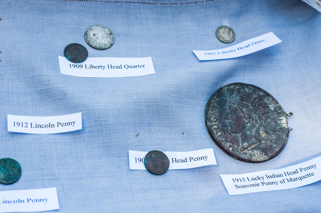 Coins found inside the copper box