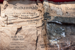 April 28, 1916, copy of The Savannah Morning News found inside the copper box