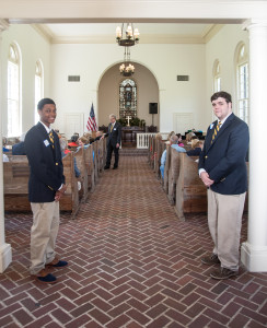 Bethesda Academy students serving as ushers for the One Hundredth Anniversary Service of Commemoration